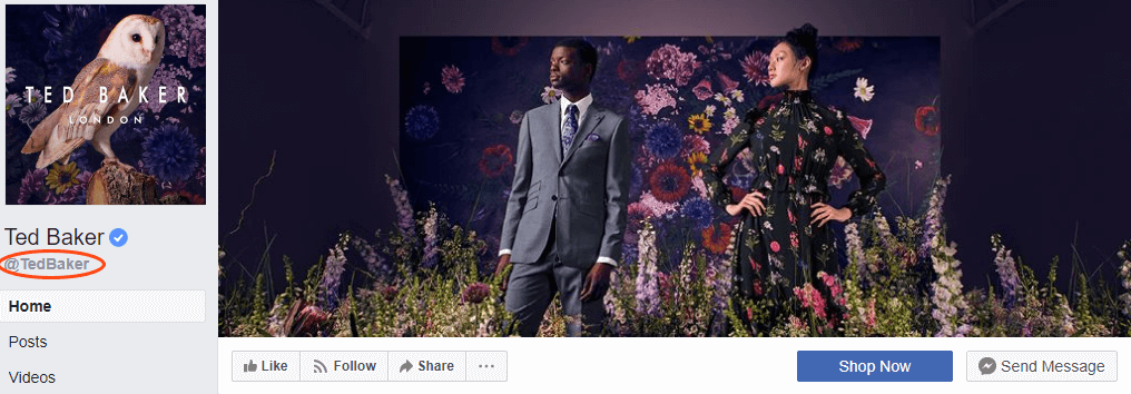 Ted Baker Facebook Page