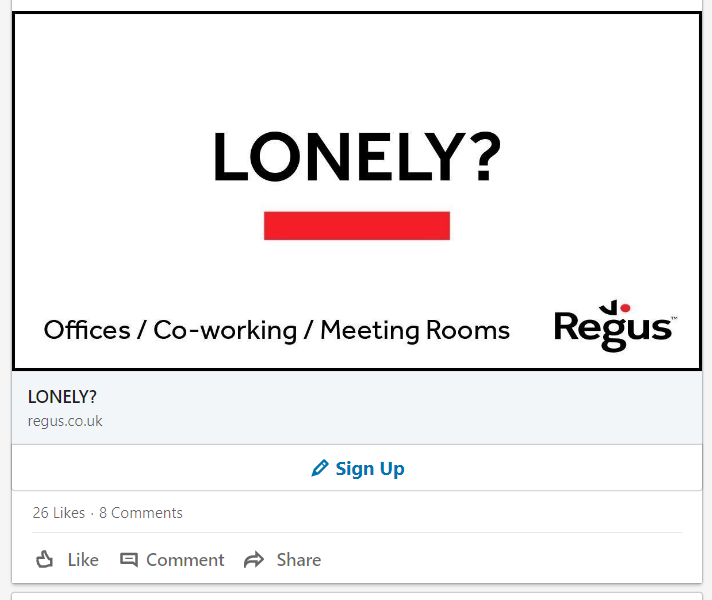 LinkedIn advertising campaign