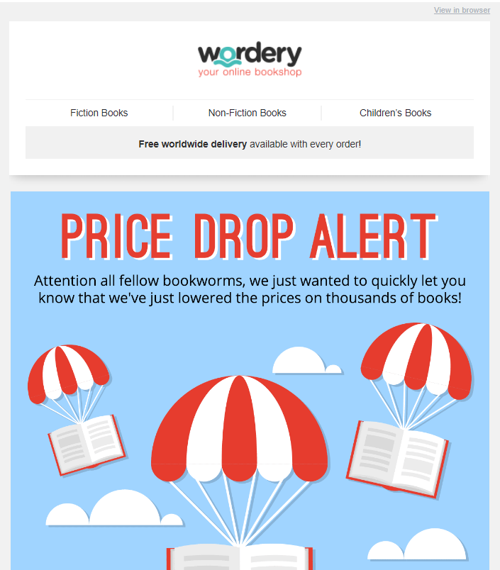 wordery email example
