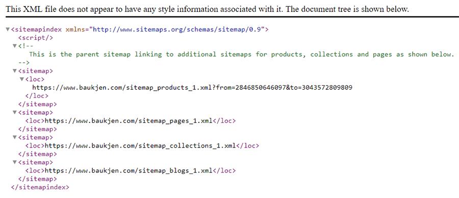 Baukjen XML sitemap index